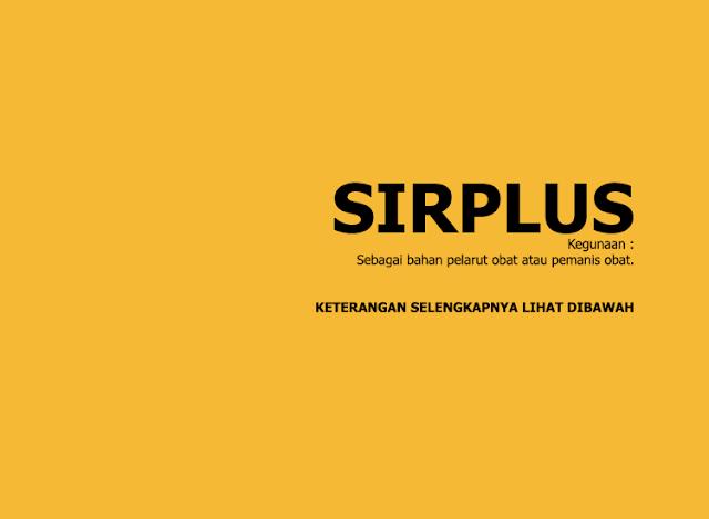 Sirplus Pemanis Obat: Sirup Rasa Jeruk, Stroberi, Melon, dan Anggur