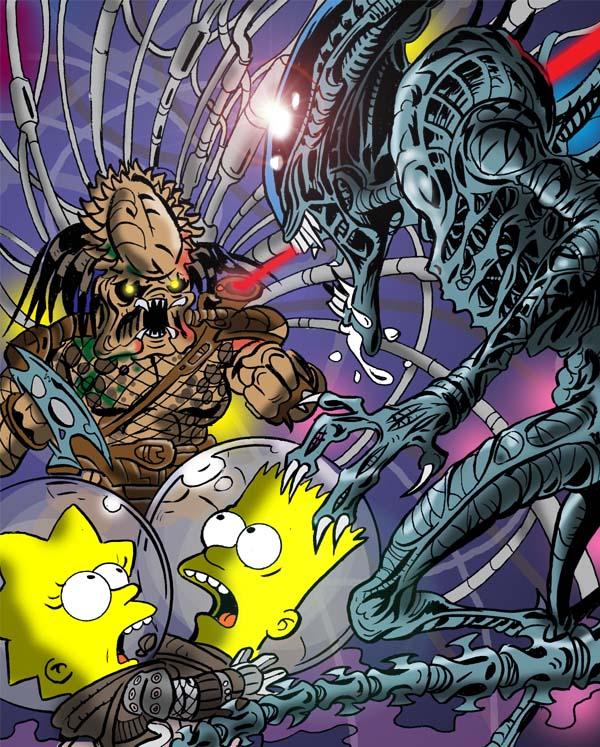 El UMBRAL DE R'LYEH: Aliens Y Los Simpsons