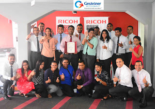 Gestetner wins the RICOH Asia Pacific Award for Outstanding Achievement in Units & Sales Revenue FY 2016 in multi-functional products (MFP) for the second time