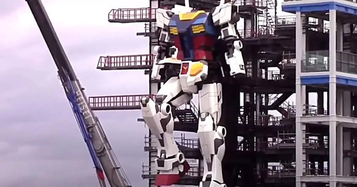 VIDEO: Japan's 60 Foot, Life-Sized Gundam Robot Takes Its First Steps