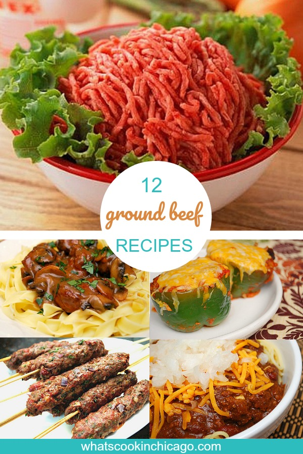 titled image (and shown) 12 Ground Beef Recipes