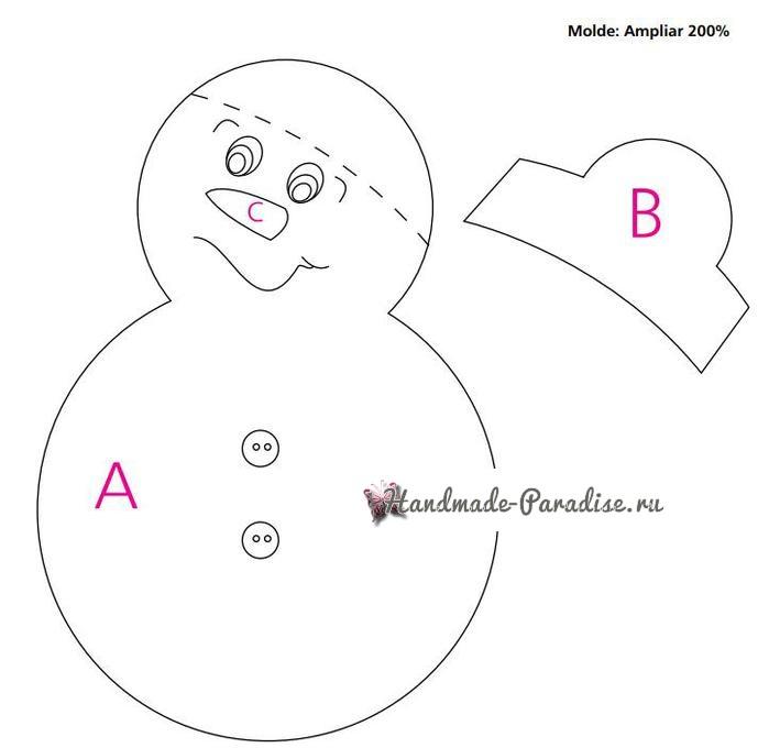 Чехол для стула со снеговиком (2)
