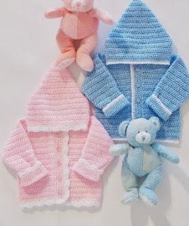 http://www.yarnspirations.com/pattern/crochet/sweet-baby-hoodie