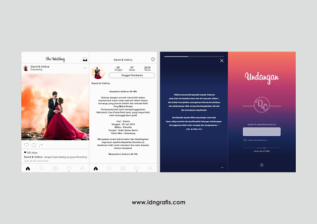 Contoh Undangan Tema Instagram Keren Untuk Printings