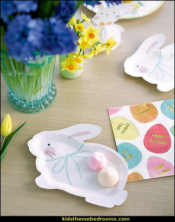 Bunny Party Bundle for an Easter Celebration or Children's Party Bunny Shaped & Printed Paper Plates & Napkins   Peter Rabbit party supplies - Peter Rabbit Party Ideas - Peter Rabbit Party Theme  decorations - Peter Rabbit birthday party decorations - Peter Rabbit spring garden party decorating - garden party - Carrots Chocolate Candy molds  -  Carrot cake cookie molds - flower decorations - bunny party sweets - bunny party supplies