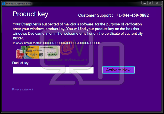 Product Key (Falso soporte)