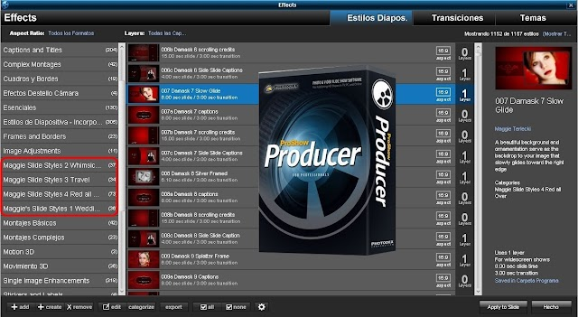 ProShow Producer - Maggie's Style Pack 1 al 4 | Nuevos Styles para Proshow Producer
