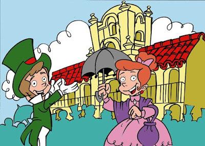 dama y caballero dibujo 25 de Mayo Argentina