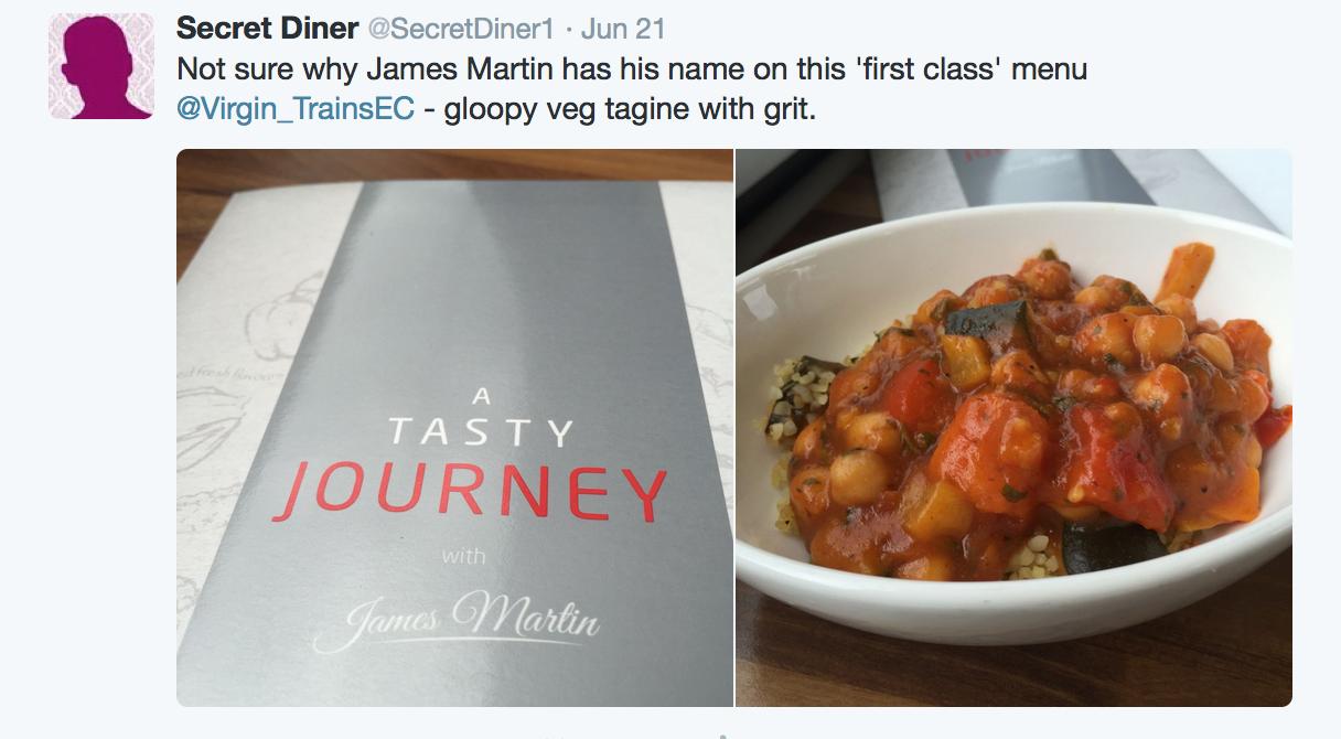 The secret diner virgin trains east coast for Food bar on virgin trains