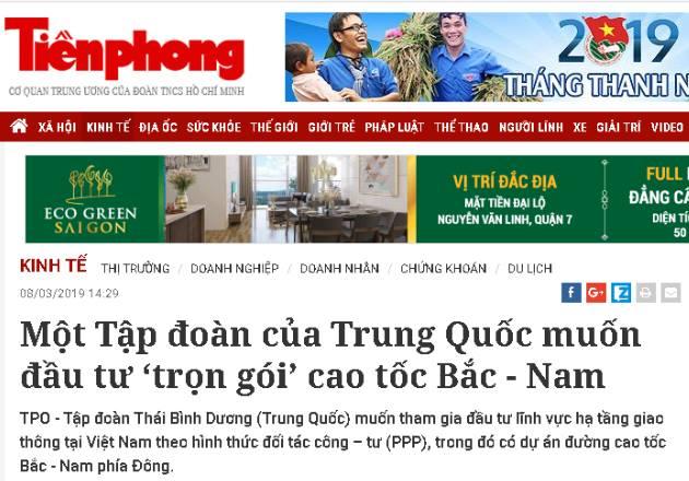 BOT Trung Quốc chuẩn bị nhảy vào toàn tuyến Bắc Nam Việt Nam?