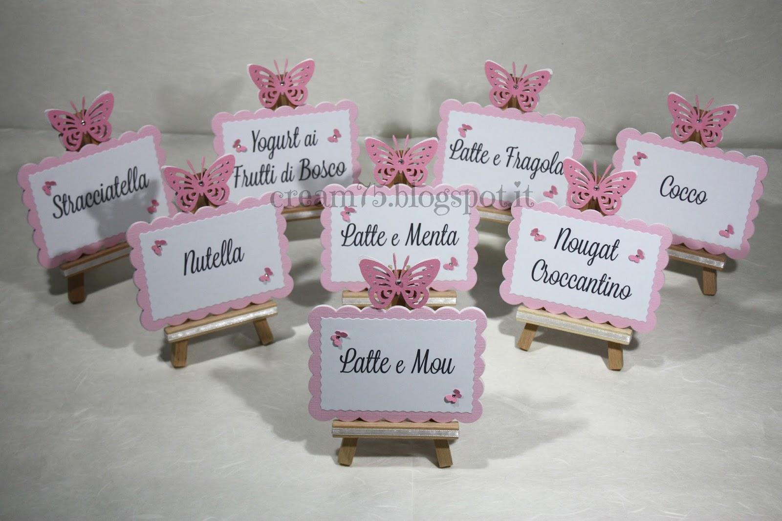 Favorito My Sweet Blog: Cavalletti segnagusto per confettata con farfalla JP83