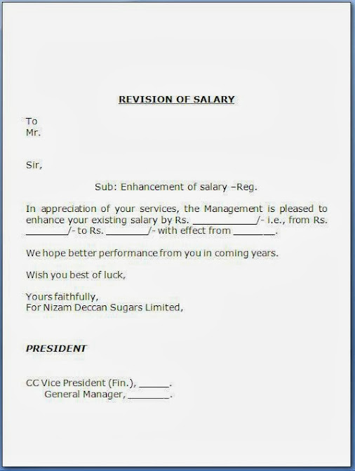 Job Confirmation Letter With Salary Increment Salary Increment – Salary Increase Notification Letter
