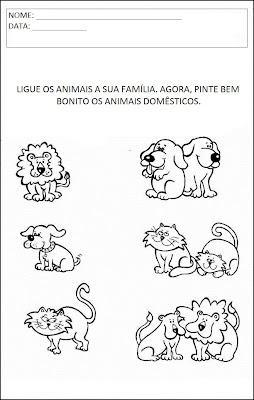 Atividades Animais - Ligue os animais
