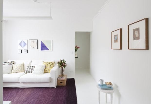 No blog: ela se mudou para apto de 35m² decorado para parecer maior. Achados de Decoração