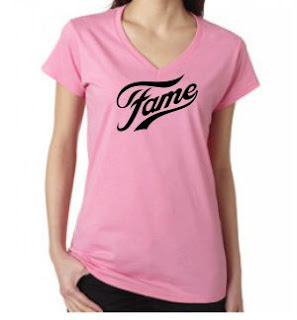 Baby Pink Fame 80s Logo Tee for Women
