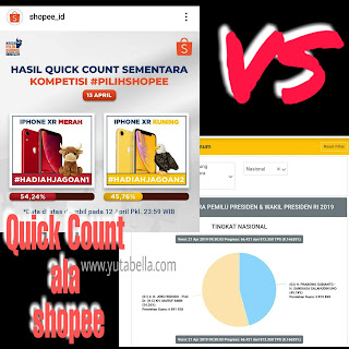 Real count KPU dibanding quick count shopee