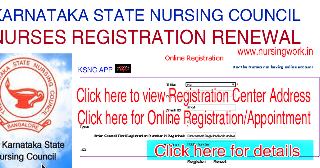NURSING JOBS: KARNATAKA NURSES REGISTRATION RENEWAL