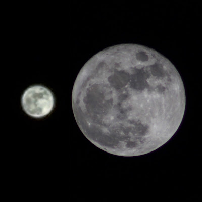 iphone moon compared to dslr