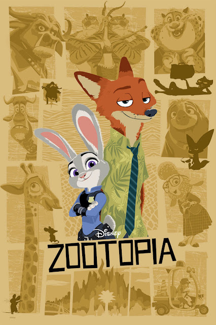 Disney's Zootopia Screen Print by Joe Dunn x Cyclops Print Works