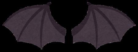 黒いドラゴンの翼のイラスト