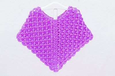 Poncho lila a crochet y ganchillo por Majovel Crochet, fácil, sencillo, paso a paso, principiantes, DIY,