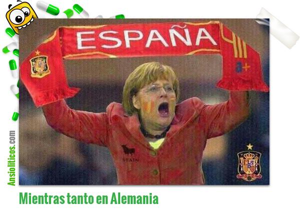 Chiste de Eurocopa: Merkel anima a España contra Italia