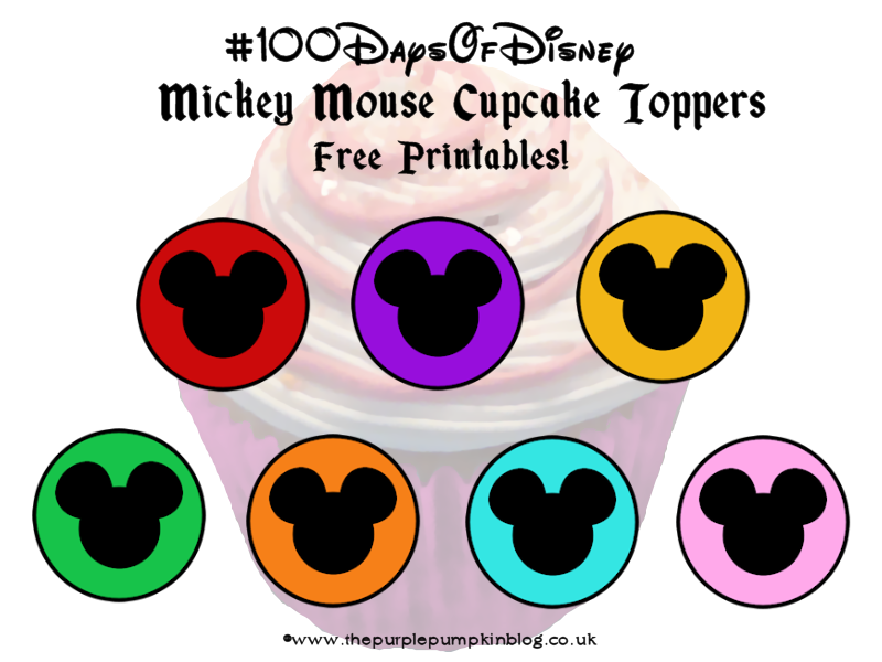 image regarding Printable Mickey Mouse titled Mickey Mouse Cupcake Toppers #100DaysOfDisney