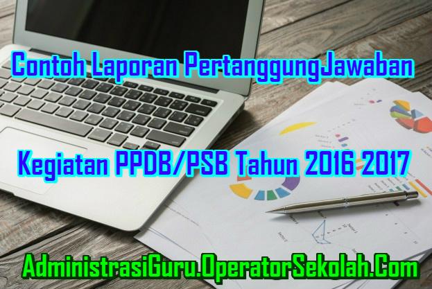 Laporan PertanggungJawaban PPDB/PSB