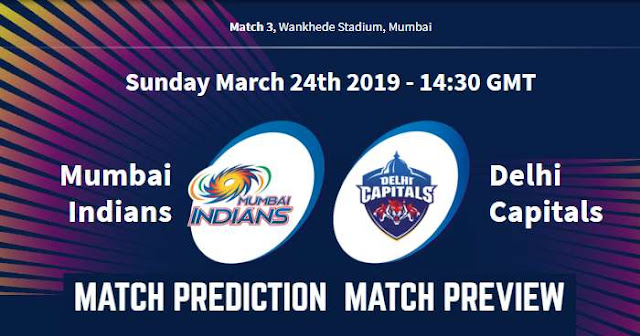 IPL 2019 Match 3 MI vs DC Match Prediction, Preview and Head to Head: Who Will Win?