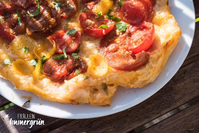 Tomaten-Tarte-Tatin (vegan)