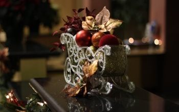 Wallpaper: Christmas Sleigh Decoration