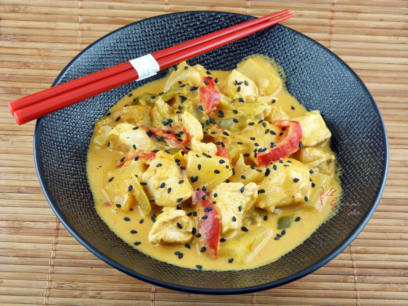 Curry De Poulet Et Ananas Au Lait De Coco Une Graine D Idee