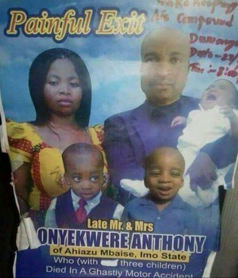 Tears Flow As Couple & Their 3 Kids Die In Fatal Accident
