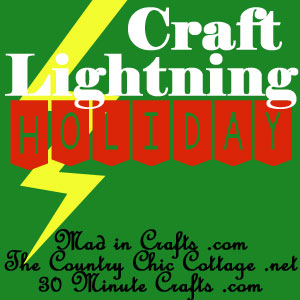 Graphic button, craft Lightning Holiday, http://www.30minutecrafts.com