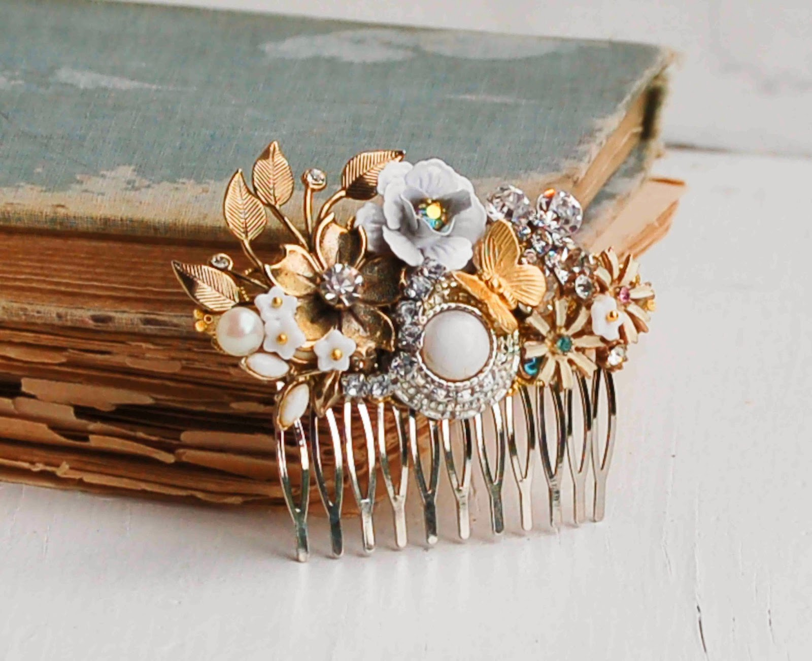 Blackbirds Amp Bumblebees Beautiful Bridal Hair Combs