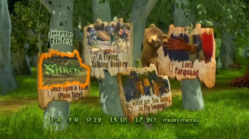 shrek 4 dvd menu scene index menu. Black Bedroom Furniture Sets. Home Design Ideas