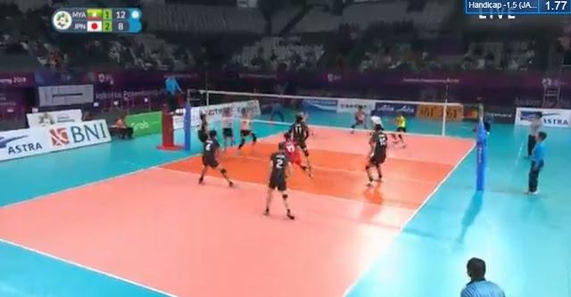Live Streaming List: Myanmar vs Japan ASIAD 2018 Volleyball (Men) Match