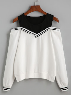 http://es.shein.com/Varsity-Striped-Contrast-Open-Shoulder-Sweatshirt-p-305391-cat-1773.html?aff_id=8741