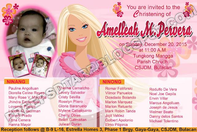 free psd barbie invitation 4r size free psd design