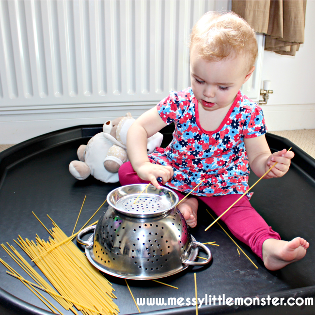 toddler play activities with pasta