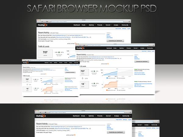 Downlaod Safari Browser Mockups Free
