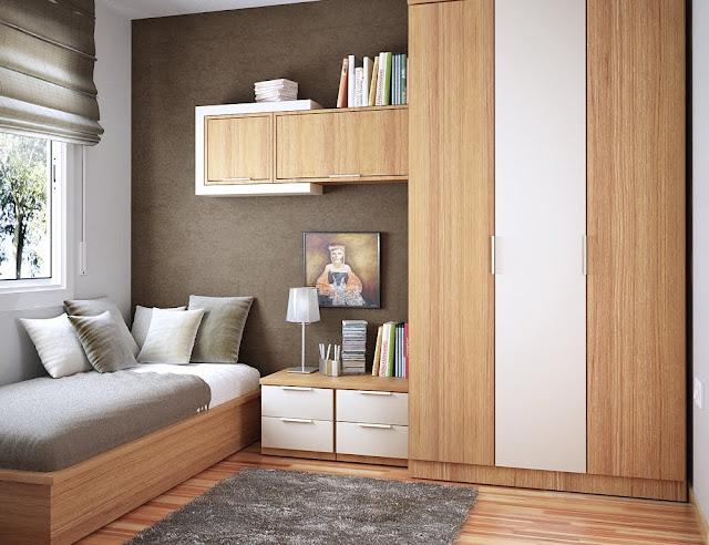 Desain Kamar Tidur Minimalis Ukuran 3×4