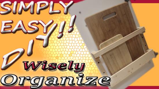 Simply Easy Diy Diy Cutting Board Storage Solution Inside Cabinet