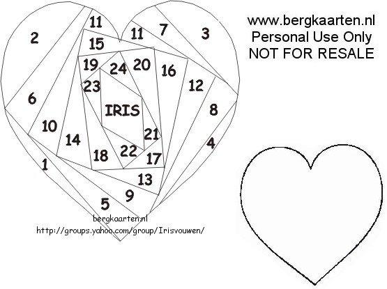 Iris Folding Templates Printable