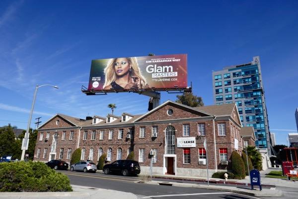 Glam Masters TV billboard