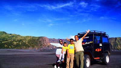 Ilustrasi foto liburan bersama rombongan ke Gunung Bromo
