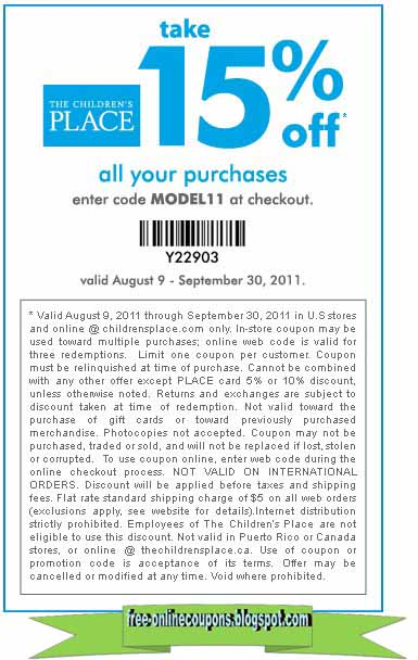 Children's place coupon code 2019