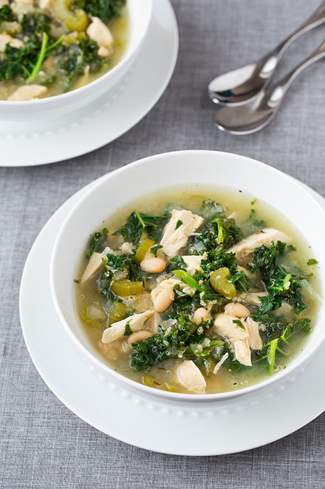 Slow Cooker Quinoa, Chicken And Kale Soup - Muddlex
