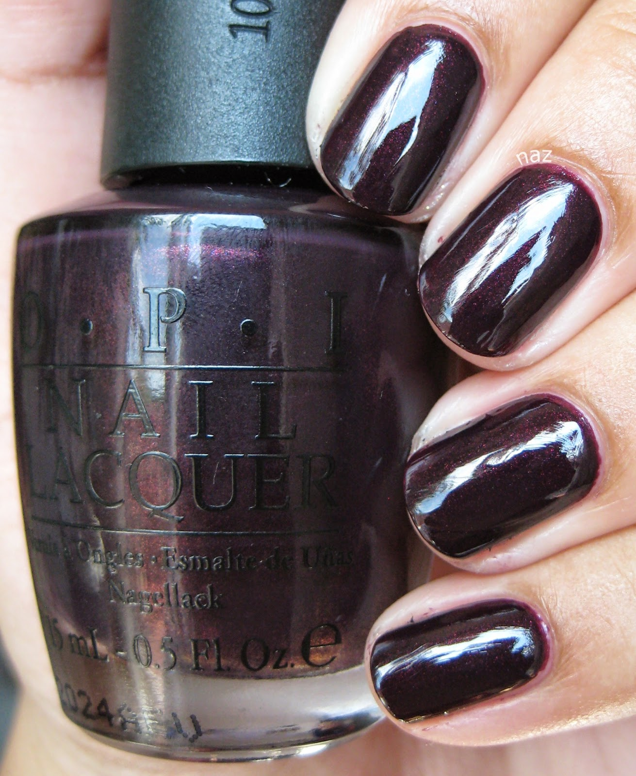 Naz S Nails Opi Black Cherry Chutney