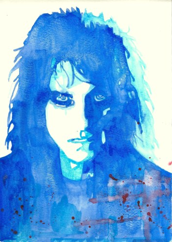 Whoopidooings: Carmen Wing - Watercolour Alice Cooper